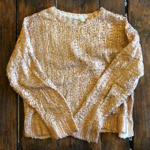 Rachel Roy textured rose gold foil sweater